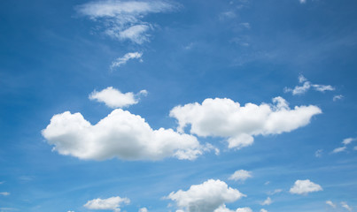 white cloud on blue sky in summer