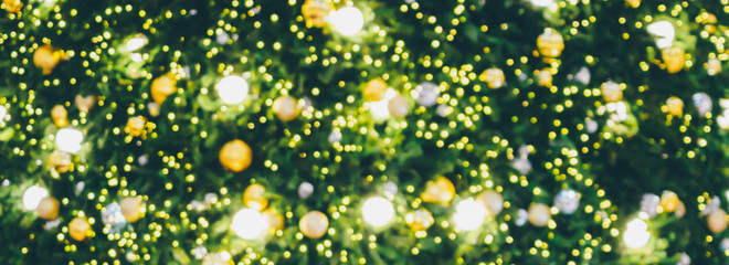 Abstract Christmas holiday bokeh light background