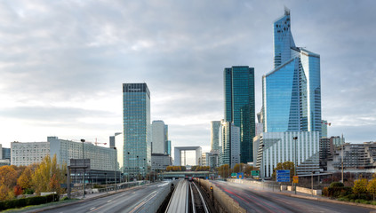 La defense district in Paris , France