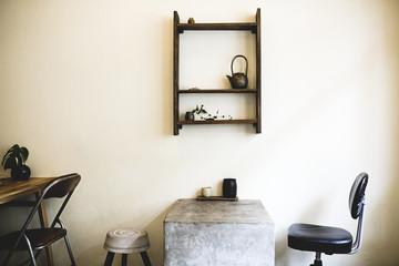 Minimal tea shop