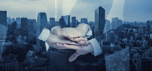 Teamwork of business concept.