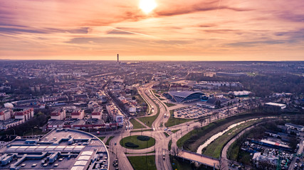 Obraz Miasto Lublin z lotu ptaka - fototapety do salonu