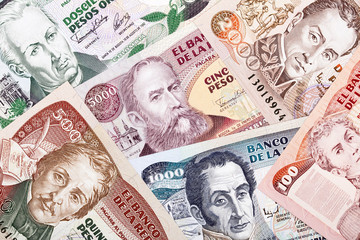 Colombian money, a background