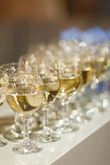 Picture of lot of wine glasses