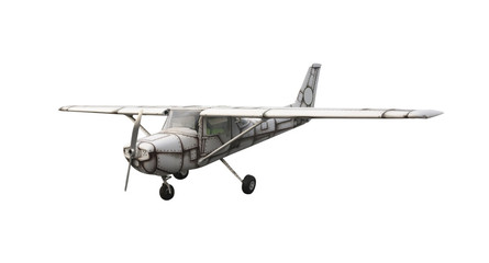Retro airplane isolated on white background. This has clipping path.