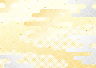 金銀 霞 和柄 背景