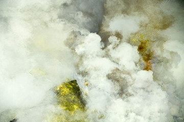 Bali Volcano Agung Ijen flames erupting