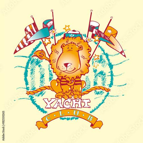 Sailor lion yacht club mascotte