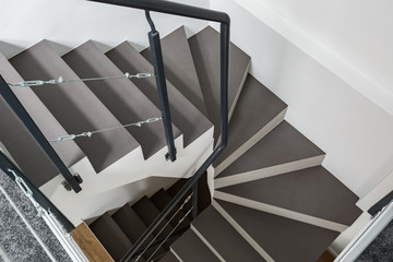 Staircase with gray steps