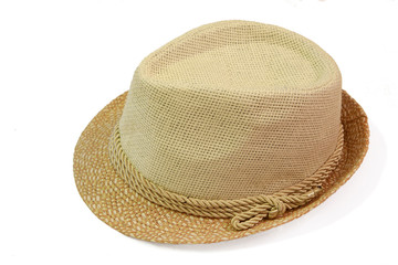 Vintage Straw hat fashion for man isolated