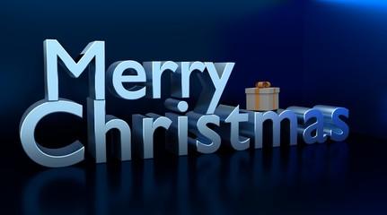 Merry Christmas 3D text