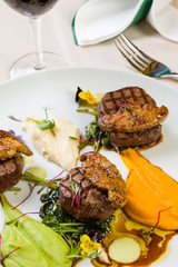 beef filets with foie gras