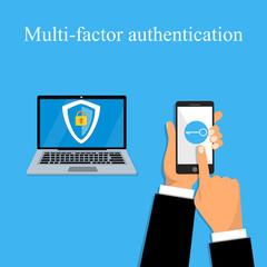 Multi-factor authentication design.