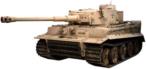 Tiger tank in desert camoflage