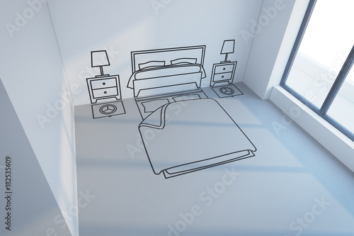 bedroom planning design Stock photo and royaltyfree images on