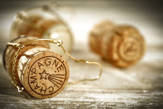 champagne cork and winter time