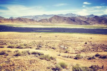 Death Valley National Park landscape, color filtered photo, USA.