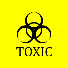 Toxic icon. Signage, icon biological_danger, hospital and chemical waste. Ideal for visual communications and institutional