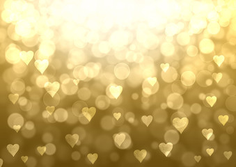 Gold Valentine abstract background