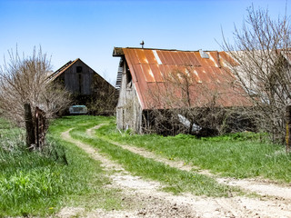 Barns with truck parked inside