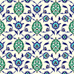 Turkish Motif Seamless Pattern