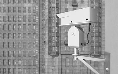Überwachungskamera in einer Stadt
