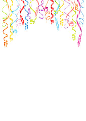Party Background Streamers A4