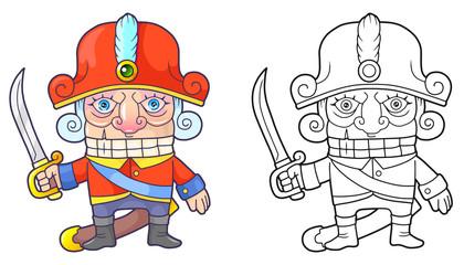 cartoon cute nutcracker funny illustration