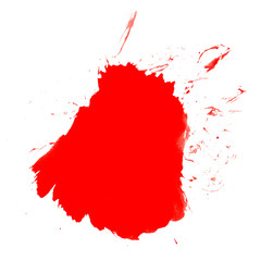 Roter Farbklecks oder Blutspritzer