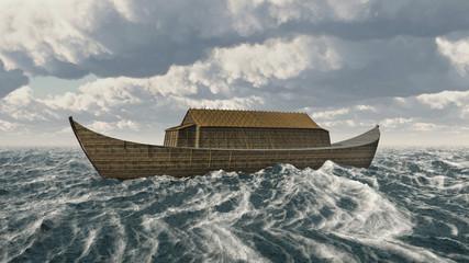 Arche Noah in stürmischer See