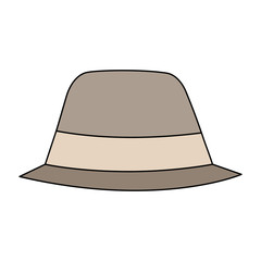 hat accessory fashion object vintage design image vector illustration