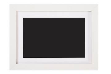 Isolated white picture photo frame