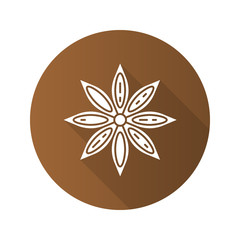 Anise flat design long shadow glyph icon