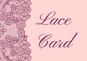 lace border card