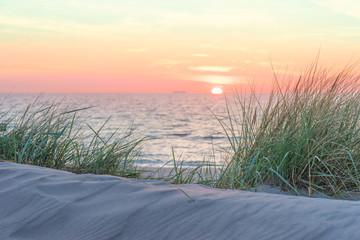 Fototapete - Sonnenuntergang am Meer