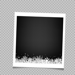 Christmas snow photo frame