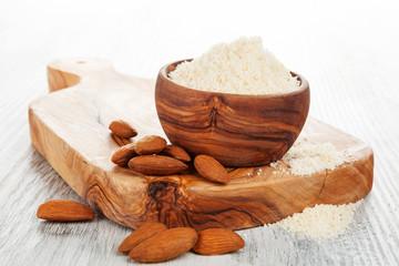 Almond flour with almonds