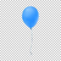 Realistic blue balloon.