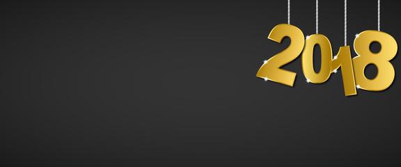 Silvester 2018 - Banner (in Gold/ Schwarz)