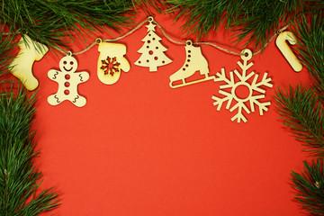 Creative Merry Christmas toys and fir-tree