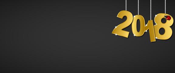 Silvester 2018 - Banner (Gold/ Schwarz)