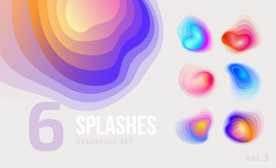 Set of colorful abstract blend shapes
