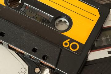 Nahaufnahme von alten Musik Kassetten