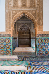 saadian tombs of marrakech, morocco