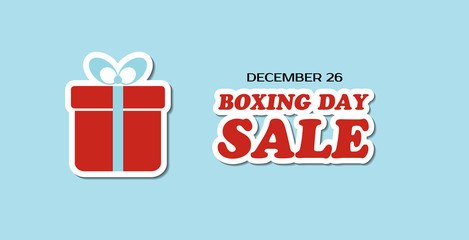 Boxing day sale vector banner