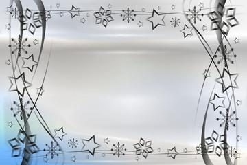 Weihnachten - Hintergrund Gutschein abstrakt mit mit Sternen