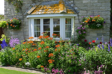 Beautiful flowering spring garden Cornwall, South England