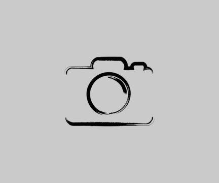 camera logo icon Vector Grunge