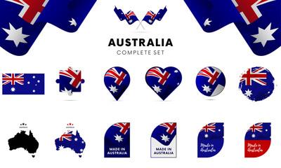 Australia complete set. Vector illustration.