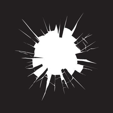 Broken glass. Vector drawing